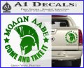 Molon Labe Spartan CR5 Decal Sticker Green Vinyl 120x97