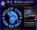 Molon Labe Spartan CR5 Decal Sticker Light Blue Vinyl 120x97
