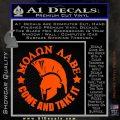 Molon Labe Spartan CR5 Decal Sticker Orange Vinyl Emblem 120x120