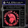 Molon Labe Spartan CR5 Decal Sticker Pink Vinyl Emblem 120x120