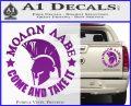 Molon Labe Spartan CR5 Decal Sticker Purple Vinyl 120x97