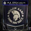 Molon Labe Spartan CR5 Decal Sticker Silver Vinyl 120x120