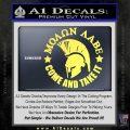 Molon Labe Spartan CR5 Decal Sticker Yelllow Vinyl 120x120