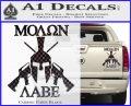Molon Labe Spartan Cross Rifles Decal Sticker Carbon Fiber Black 120x97