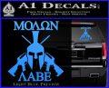 Molon Labe Spartan Cross Rifles Decal Sticker Light Blue Vinyl 120x97