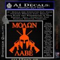 Molon Labe Spartan Cross Rifles Decal Sticker Orange Vinyl Emblem 120x120