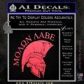 Molon Labe Spartan Decal Sticker INT Pink Vinyl Emblem 120x120