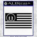 Mopar American Flag Decal Sticker Black Logo Emblem 120x120