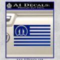 Mopar American Flag Decal Sticker Blue Vinyl 120x120