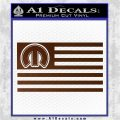 Mopar American Flag Decal Sticker Brown Vinyl 120x120