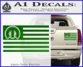 Mopar American Flag Decal Sticker Green Vinyl 120x97