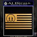 Mopar American Flag Decal Sticker Metallic Gold Vinyl Vinyl 120x120