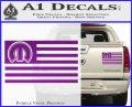 Mopar American Flag Decal Sticker Purple Vinyl 120x97