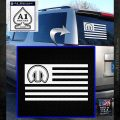 Mopar American Flag Decal Sticker White Emblem 120x120
