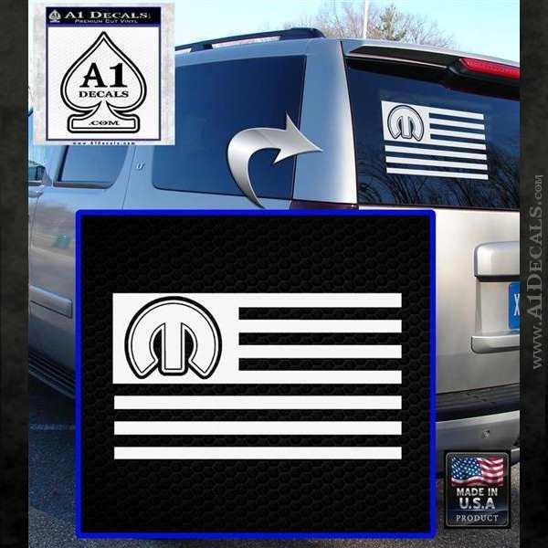 Mopar American Flag Decal Sticker A1 Decals