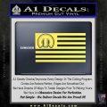 Mopar American Flag Decal Sticker Yelllow Vinyl 120x120