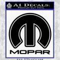 Mopar Decal Sticker F2 Decal Sticker Black Logo Emblem 120x120
