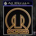 Mopar Decal Sticker SQO Metallic Gold Vinyl Vinyl 120x120