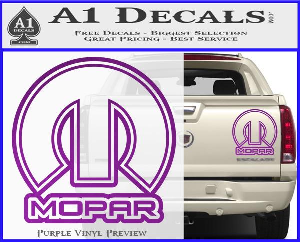 Mopar Decal Sticker Sqo 187 A1 Decals