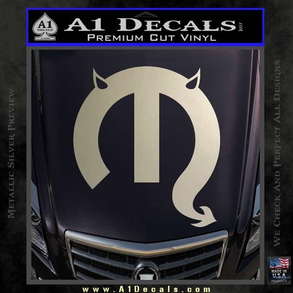Mopar Devil Logo Vinyl Decal Sticker 187 A1 Decals