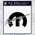 Mopar Racing Logo Decal Sticker Black Logo Emblem 120x120