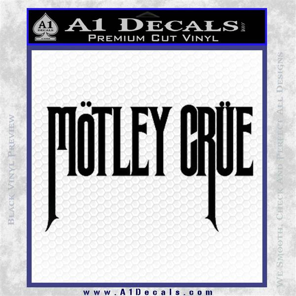 Motley crue band vinyl decal sticker black logo emblem