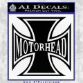 MotorHead Iron Cross Decal Sticker Black Logo Emblem 120x120