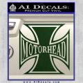 MotorHead Iron Cross Decal Sticker Dark Green Vinyl 120x120