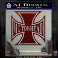 MotorHead Iron Cross Decal Sticker Dark Red Vinyl 120x120