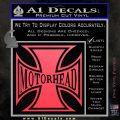 MotorHead Iron Cross Decal Sticker Pink Vinyl Emblem 120x120