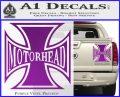 MotorHead Iron Cross Decal Sticker Purple Vinyl 120x97