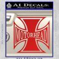 MotorHead Iron Cross Decal Sticker Red Vinyl 120x120