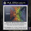 MotorHead Iron Cross Decal Sticker Sparkle Glitter Vinyl 120x120
