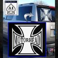 MotorHead Iron Cross Decal Sticker White Emblem 120x120