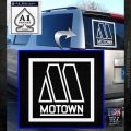 Motown Records Logo Decal Sticker RR White Emblem 120x120
