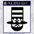 Mr Hat Decal Sticker South Park Black Logo Emblem 120x120