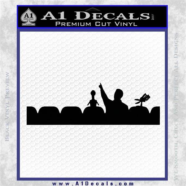 Mystery Science Theater Cast Vinyl Decal Sticker Black Logo Emblem