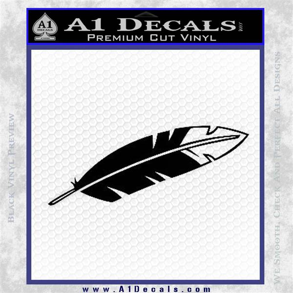 Native American Eagle Feather Decal Sticker Dh 187 A1 Decals