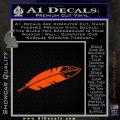 NATIVE AMERICAN EAGLE FEATHER VINYL DECAL STICKER Orange Vinyl Emblem 120x120