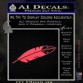 NATIVE AMERICAN EAGLE FEATHER VINYL DECAL STICKER Pink Vinyl Emblem 120x120