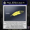 NATIVE AMERICAN EAGLE FEATHER VINYL DECAL STICKER Yelllow Vinyl 120x120