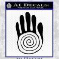 NATIVE AMERICAN SACRED HAND SYMBOL VINYL DECAL STICKER Black Logo Emblem 120x120