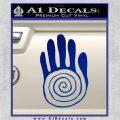 NATIVE AMERICAN SACRED HAND SYMBOL VINYL DECAL STICKER Blue Vinyl 120x120