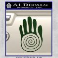 NATIVE AMERICAN SACRED HAND SYMBOL VINYL DECAL STICKER Dark Green Vinyl 120x120