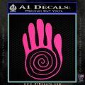 NATIVE AMERICAN SACRED HAND SYMBOL VINYL DECAL STICKER Hot Pink Vinyl 120x120