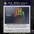 NATIVE AMERICAN SACRED HAND SYMBOL VINYL DECAL STICKER Sparkle Glitter Vinyl 120x120