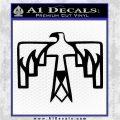 NATIVE AMERICAN THUNDERBIRD VINYL DECAL STICKER Black Logo Emblem 120x120