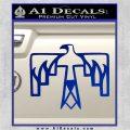 NATIVE AMERICAN THUNDERBIRD VINYL DECAL STICKER Blue Vinyl 120x120
