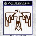 NATIVE AMERICAN THUNDERBIRD VINYL DECAL STICKER Brown Vinyl 120x120