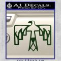 NATIVE AMERICAN THUNDERBIRD VINYL DECAL STICKER Dark Green Vinyl 120x120